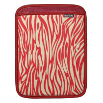 Red and White Animal Print iPad cover