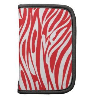 Red and White Animal Print Folio Planners