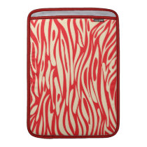 Red and White Animal Print Sleeve For MacBook Air