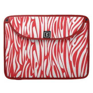 Red and White Animal Print Sleeves For MacBooks