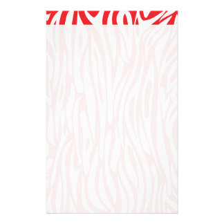 Red and White Animal Print Stationery