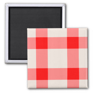 Red and White Background 2 Inch Square Magnet
