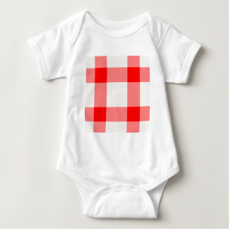 Red and White Background Baby Bodysuit