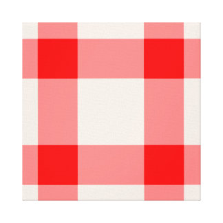 Red and White Background Canvas Print