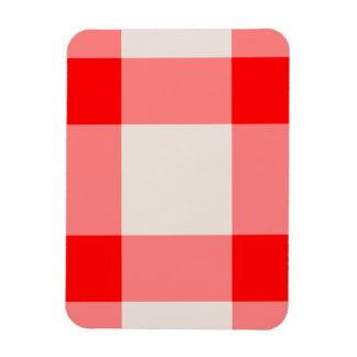 Red and White Background Magnet