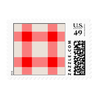 Red and White Background Stamps