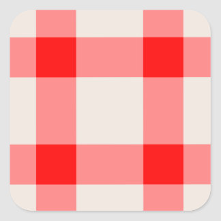 Red and White Background Square Sticker