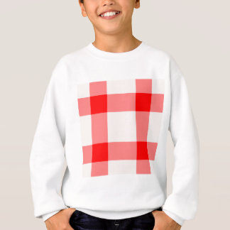 Red and White Background Sweatshirt