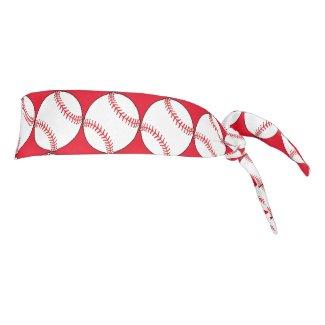 Red and White Balls Tie Headband