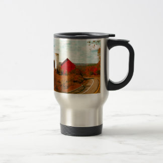 Red and White Barns in Fall Coffee Mugs