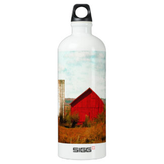 Red and White Barns in Fall SIGG Traveler 1.0L Water Bottle