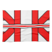 Red and White Bars and Stripes Kitchen Towel