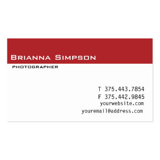 Red and white bicycle Business Card