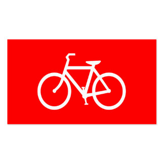 Red and White Bike Double-Sided Standard Business Cards (Pack Of 100)