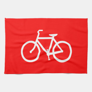 Red and White Bike Towel