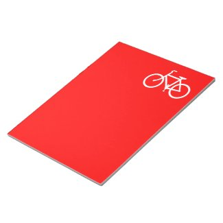 Red and White Bike Note Pad