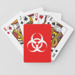 Red and White Biohazard Symbol Card Deck