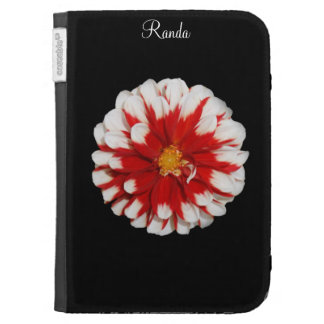 Red and White Blossom Floral Kindle Case
