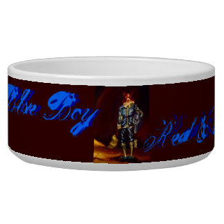 Red and White Blue Boy, Pet Dish Pet Food Bowls