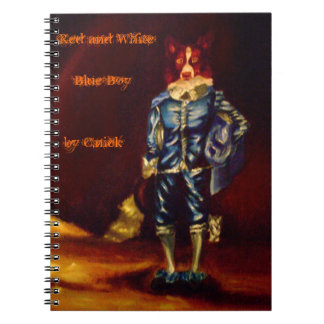 Red and White Blue Boy Spiral Notebook