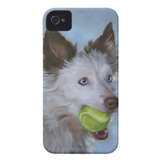 Red and white border collie blackberry bold case