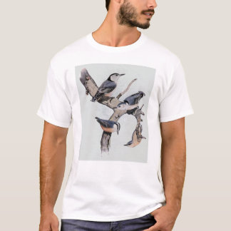 Red and White Breasted Nuthatches T-Shirt