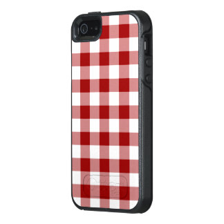 Red and White Buffalo Check OtterBox iPhone 5/5s/SE Case