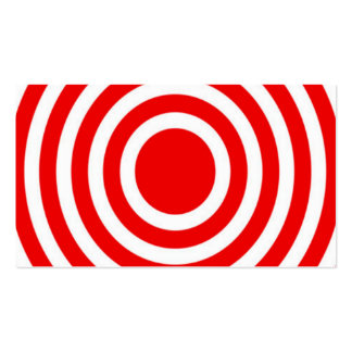 Red and White Bulls-Eye Business Card