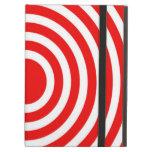 Red and White Bulls-Eye iPad Folio Cases