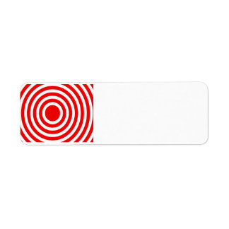 Red and White Bulls-Eye Label