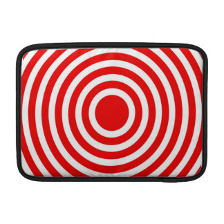 Red and White Bulls-Eye Sleeve For MacBook Air