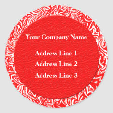 Red And White Business Address Labels at Zazzle