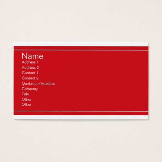 Red and White Business Cards