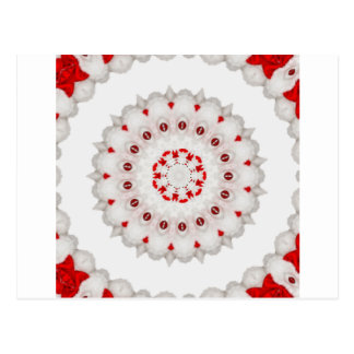 Red and White  Cake Design Tile by CGB Digital Postcard