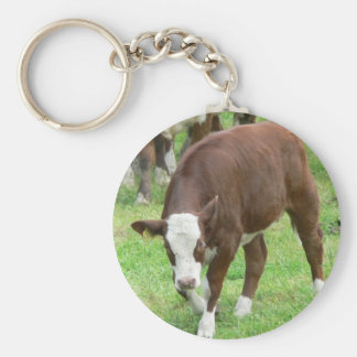 Red And White Calf Keychains