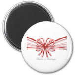Red and White Candy Cane Bouquet 2 Inch Round Magnet