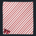 """Red and White Candy Cane Stripe Christmas Bandana<br><div class=""""desc"""">A red and white candy cane stripe with a red bow for your pup&#39;s initial. Christmassy!</div>"""