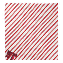 Red and White Candy Cane Stripe Christmas Bandana