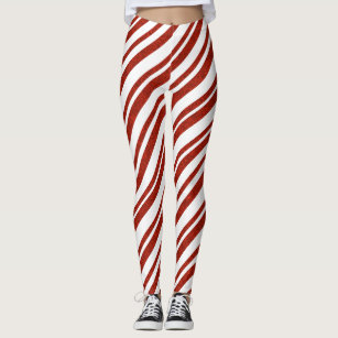 53937321de4b2d Red and White Candy Cane Striped Leggings