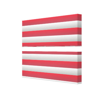 Red and White Canvas Print