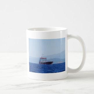 Red And White Cargo Ship Coffee Mug