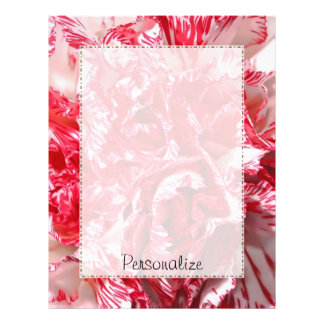 Red And White Carnation Petals With Name Letterhead