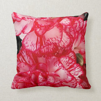 Red and White Carnations-Square Throw Pillow