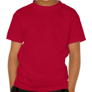 Red and White Cartoon Medieval Castle with Flags Shirt