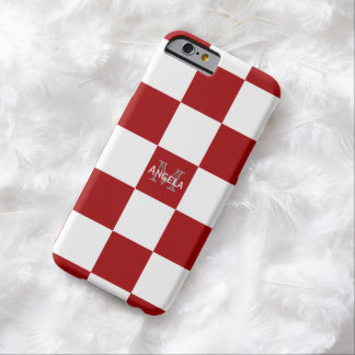 Red And White Check Case