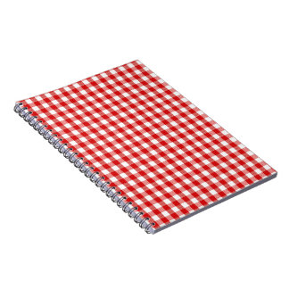 Red and White Check Notebook