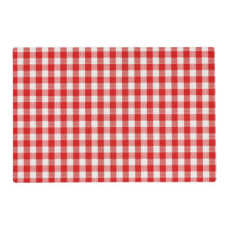 Red and White Check Placemat