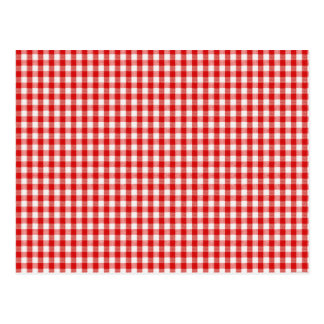 Red and White Check Postcard
