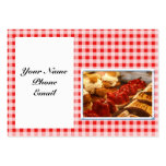 Red and White Checked Plaid Dessert Business Card Templates