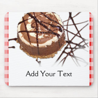 Red and White Checked Plaid Dessert Mouse Pad